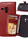 용 삼성 갤럭시 케이스 지갑 / 카드 홀더 / 스탠드 / 플립 케이스 풀 바디 케이스 단색 인조 가죽 Samsung S6 Active / S5 Mini / S4 Mini / S3 Mini