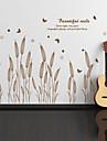 보타니칼 벽 스티커 플레인 월스티커 데코레이티브 월 스티커, 비닐 홈 장식 벽 데칼 벽