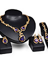 Women\'s Synthetic Amethyst Jewelry Set - Crystal Include Purple For Wedding / Party / Rings / Necklace