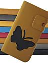 Для Кейс для  Samsung Galaxy Бумажник для карт / Кошелек / со стендом / Флип Кейс для Чехол Кейс для Бабочка Искусственная кожа Samsung S4