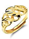 Feminino Aneis Grossos bijuterias Chapeado Dourado Joias Para Casamento Festa Diario Casual Esportes