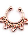 Body Piercing Jewellery Chic Nose Piercing Rhinestone Heart Fake Septum Nose Ring For Women