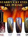 1pcs ana etoile chat 12colors gel de couleur des yeux de 12ml durable a long ongles 7-9