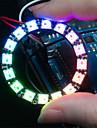 ws2812 5050 RGB 라운드 램프 개발 보드를 16 주도 - 검정