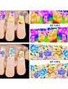 20pcs Nail Jewelry 3D Nail Stickers Nail Stamping Template Daily Flower Fashion High Quality