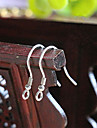 (100pc / sac) de boucle d'oreille en argent bricolage des conclusions de fil de crochet auriculaire accessoires de bijoux (100pc / sac)