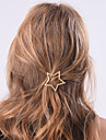 Women Fashion Casual Metal Stars Pattern Hairpin Hair Accessories Jewelry 1pc