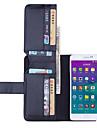 Pour Samsung Galaxy Note Portefeuille Porte Carte Avec Support Clapet Coque Coque Intégrale Coque Couleur Pleine Cuir PU pour SamsungNote