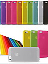 Coque Pour iPhone 5 Apple Coque iPhone 5 Ultrafine Coque Couleur unie Flexible PC pour iPhone SE/5s iPhone 5