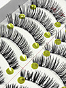 Eyelash 10 Extended Lifted lashes Volumized Natural Party Makeup Daily Makeup Full Strip Lashes Crisscross Natural Long
