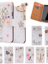 For Samsung Galaxy Note Card Holder / Rhinestone / with Stand / Flip Case Full Body Case Glitter Shine PU Leather SamsungNote 5 / Note 4