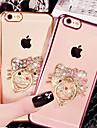 Кейс для Назначение Apple iPhone X iPhone 8 iPhone 8 Plus iPhone 6 iPhone 6 Plus Стразы Покрытие Кольца-держатели Прозрачный С узором
