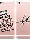 Для Кейс для iPhone 5 Чехлы панели Ультратонкий Прозрачный С узором Задняя крышка Кейс для Слова / выражения Мягкий TPU дляiPhone SE/5s
