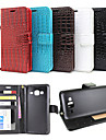Case For Samsung Galaxy Samsung Galaxy Case Card Holder Wallet with Stand Flip Embossed Full Body Cases Solid Color PU Leather for J7