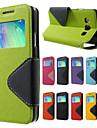 제품 삼성 갤럭시 케이스 케이스 커버 카드 홀더 스탠드 윈도우 플립 풀 바디 케이스 한 색상 인조 가죽 용 Samsung On 7 On 5 J7 J5 J2 J1 Ace J1