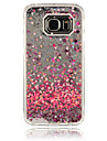 Case For Samsung Galaxy Samsung Galaxy Case Flowing Liquid Back Cover Heart PC for S6 edge / S6 / S5