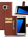 Coque Pour Samsung Galaxy Samsung Galaxy S7 Edge Portefeuille / Porte Carte / Avec Support Coque Integrale Couleur Pleine faux cuir pour S7 edge plus / S7 edge / S7