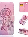 For Samsung Galaxy A7(2016) Dream Catcher Card Holder with Stand Flip Magnetic Full Body PU Leather A7100
