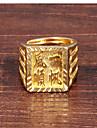 Кольца Для вечеринок / Повседневные Бижутерия Сплав Мужчины Массивные кольца 1шт,8 Золотой