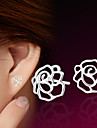 Women\'s Stud Earrings Sterling Silver Silver Flower Jewelry Wedding Party Daily Casual Sports Costume Jewelry