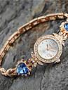 Mulheres Relogio de Moda Bracele Relogio Quartzo Lega Banda Heart Shape Elegant Dourada