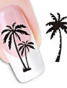 1pcs Water Transfer Sticker 3D Nail Stickers Nail Stamping Template Daily Abstract Fashion Lovely High Quality