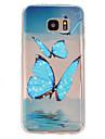 Pour Samsung Galaxy S7 Edge Etuis coque Ultrafine Relief Coque Arriere Coque Papillon PUT pour Samsung Galaxy S7 plus S7 edge plus S7