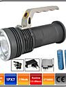 Φακοί LED LED - Εκτοξευτές 1000 lm 3 τρόπος φωτισμού με μπαταρίες και φορτιστή Zoomable Αδιάβροχη Ανθεκτικό στα Χτυπήματα Κατασκήνωση / Πεζοπορία / Εξερεύνηση Σπηλαίων Καθημερινή Χρήση Κυνήγι