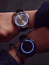 남성 아가씨들 커플용 스포츠 시계 터치스크린 디지털 가죽 밴드 멀티컬러