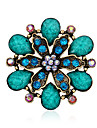 Women\'s Brooches - Resin, Rhinestone Fashion Brooch Purple / Red / Blue For Party / Special Occasion / Birthday