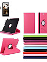 Case For Samsung Galaxy Tab A 8.0 with Stand Flip 360° Rotation Full Body Cases Solid Color Hard PU Leather for