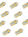 YWXLIGHT® 10pcs 600 lm G4 LED Bi-pin Lights T 72 leds SMD 3014 Decorative Warm White Cold White DC 24V AC 24V AC 12V DC 12V