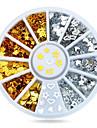 1roue or Argent colombages ongle decorations-Bijoux pour ongles-Doigt- enAdorable-6cm roue