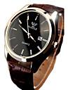 Муж. Наручные часы Кварцевый 30 m Защита от влаги Календарь Светящийся Кожа Группа Аналоговый Элегантный стиль Черный / Коричневый - Черный / Белый Черный Коричневый / Белый / Нержавеющая сталь