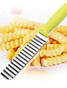 Potato Shredders Slicers,  Stainless Steel Cut Potato Waves Crinkle Shape Vegetable Chips Kitchen Knife Accessories