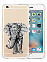 Para Capinha iPhone 6 / Capinha iPhone 6 Plus Antichoque / Transparente / Estampada Capinha Capa Traseira Capinha Animal Macia Silicone