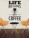 AYA™ DIY Wall Stickers Wall Decals, Coffee English Words & Quotes PVC Wall Stickers