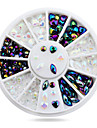 1roue Coeur conception strass 3d Nail art decorations