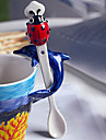 1PC 19*2.5*2cm Fashion Cute Creative Animal Ladybug Porcelain Spoon Gift