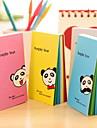 Panda Regenbogen Innenseiten Note (zufaellige Farbe)