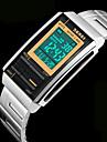 SKMEI® Unisex Men's Watch Fashion LCD Screen Digital Calendar Water Resistant/Water Proof Stainless Steel Sports Watch Wrist Watch Cool