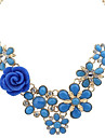 Women\'s Statement Necklaces Alloy Fashion Dark Blue Blue Pink Assorted Color Jewelry Wedding Party Daily Casual 1pc