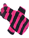 Dog Hoodie Dog Clothes Cosplay Stripe Rose Red Green Black/White Black/Gray Costume For Pets