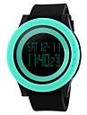 남성용 스포츠 시계 손목 시계 디지털 30 m 방수 알람 달력 PU 밴드 디지털 블랙 - 퍼플 로즈 그린