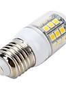 400-500 lm E26/E27 Lâmpadas Espiga B 31 leds SMD 5050 Decorativa Branco Quente AC 220-240V