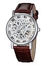 Vintage Women\'s Hollow Engraving Skeleton Wristwatch Leather Strap Quartz Wrist Watch Cool Watches Unique Watches