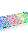 Rainbow Mechanical Touch Wired USB Waterproof Laptop Desktop Pro illuminated Computer Keyboards