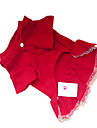 Dog Dress Dog Clothes Dark Red Costume For Pets