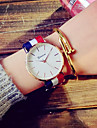 Women\'s Quartz Dress Watch Fashion Watch Casual Watch Fabric Band Vintage White Blue Red Pink