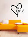 Mots& Citations Romance Forme Stickers muraux Autocollants avion Autocollants muraux decoratifs Materiel Amovible Repositionable